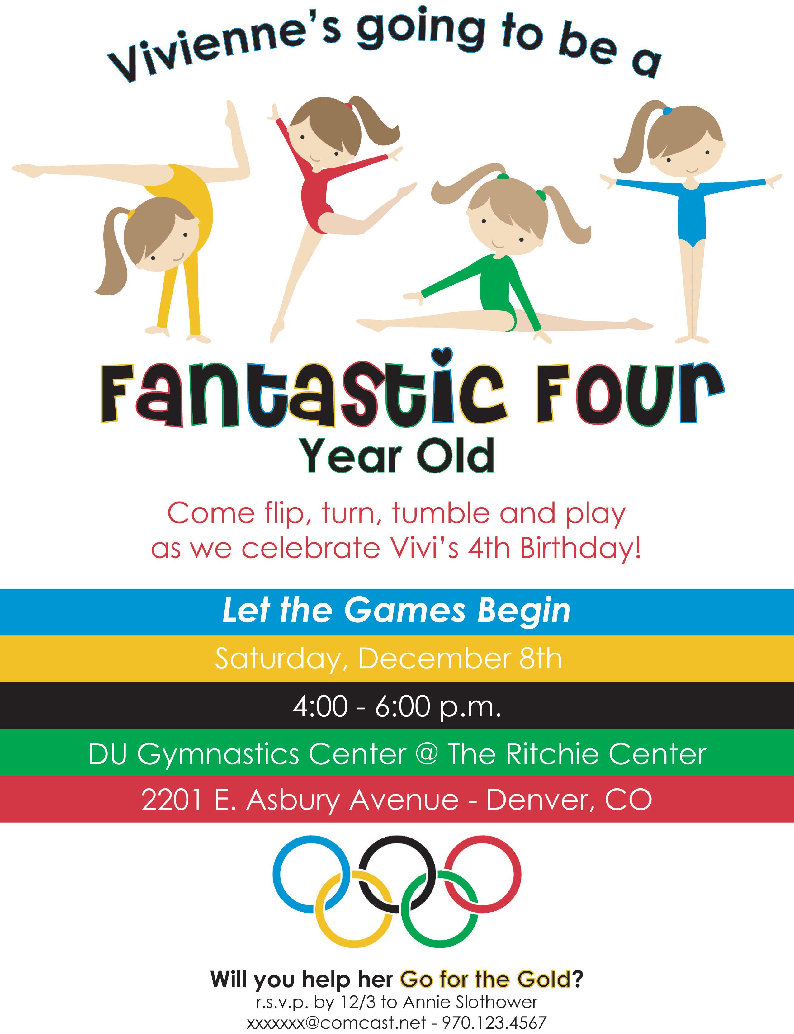 Fantastic Fourth Olympic Birthday Party