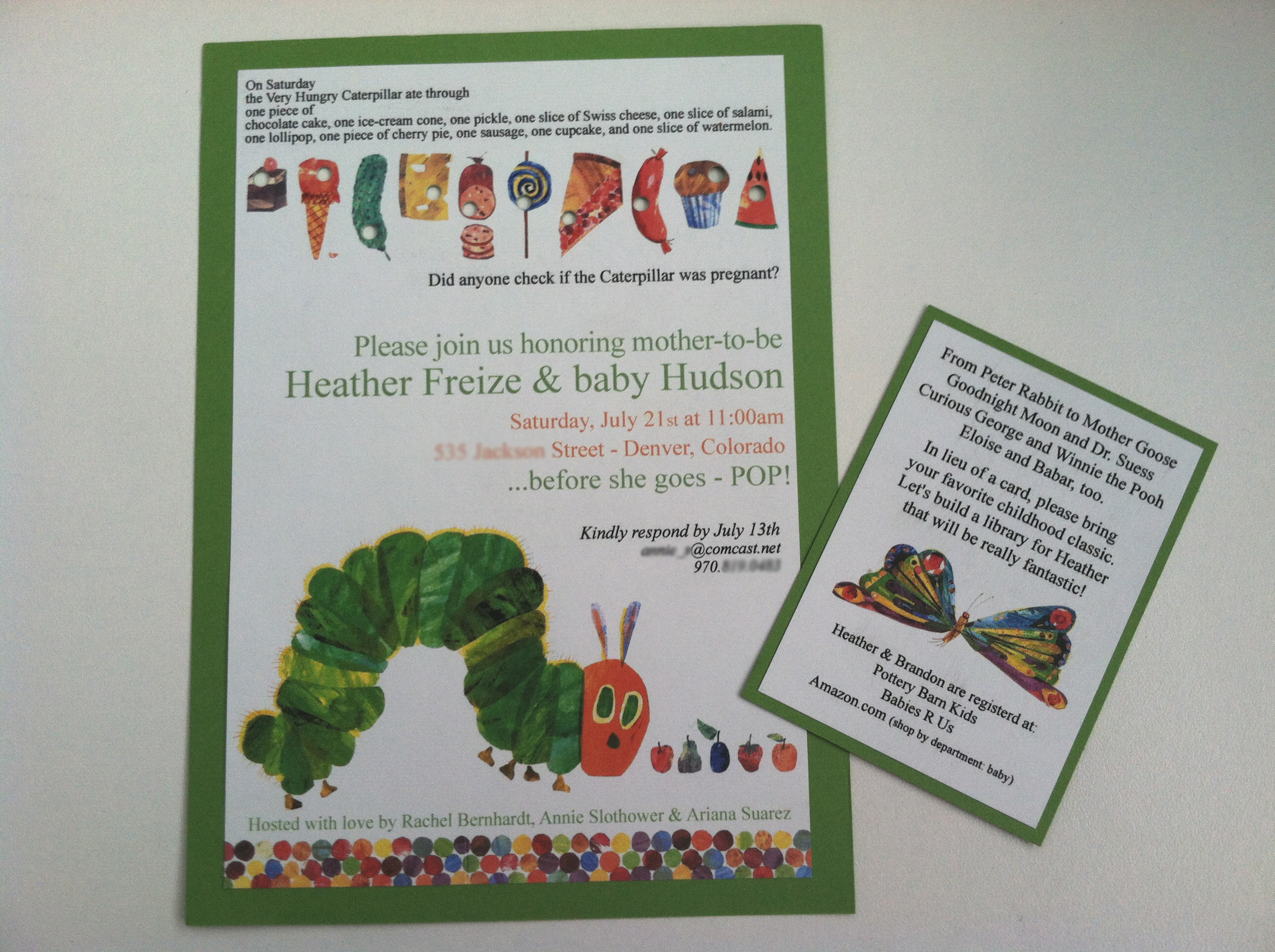 The Very Hungry Caterpillar – A Baby Shower